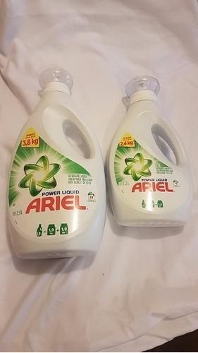 detergente ariel liquido 1,9 lt + ariel liquido 1,2 lt