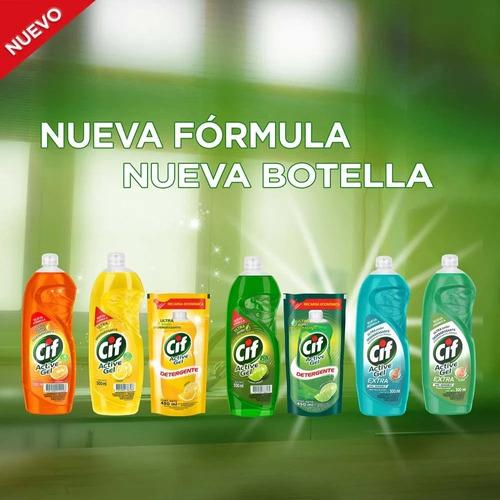 detergente cif active concentrado limon gel 500ml