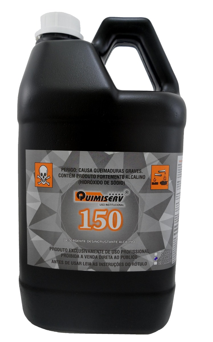 Detergente Desincrustante Alcalino 5l Quimiserv 150 R 84 38 Em