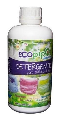 detergente ecopipo para pañales de tela 1 litro.