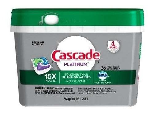 detergente lavavajillas cascade platinum actionpacs 36 un.