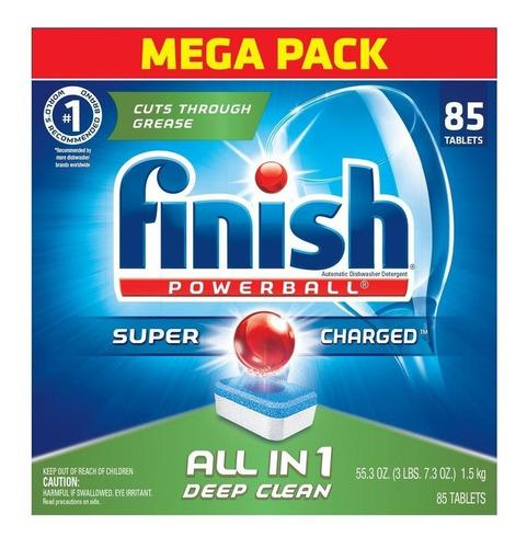 detergente  lavavajillas en cápsulas finish 85 unidades
