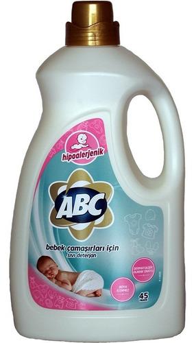 detergente líquido abc de 2,7 litros hipoalergenico