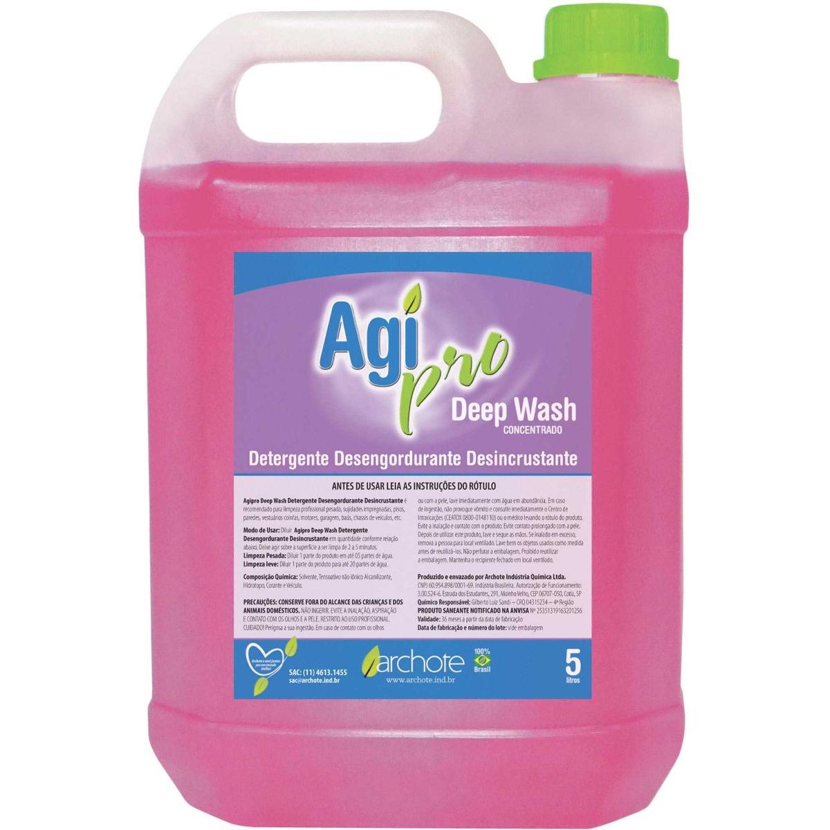 Detergente Liquido Agipro Desincrustante 5 Litros Archote R 50 26