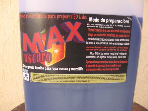 detergente liquido alta eficiencia ropa oscura base 20 litro