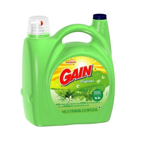 detergente líquido gain 146 lavadas - 6.65 litros