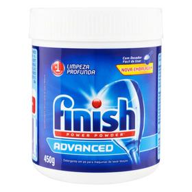 Detergente Para Lava-louças Finish Advanced Power Powder Em Pó Em Pote 450g