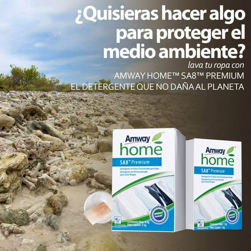 detergente premium en polvo 3 kg amway + envío gratis