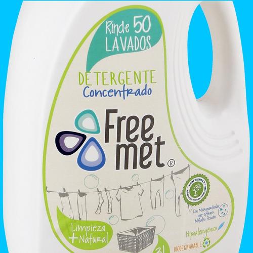 detergente ropa ecológico, hipoalergénico freemet / oficial