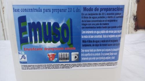 detergentes liquidos bases concentradas alta eficiencia kit