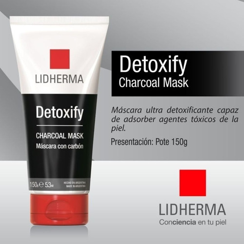 detoxify charcoal mask black mascara lidherma
