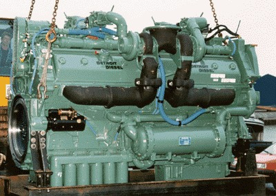 detroit diesel 16v149ti (industrial, generación, marino)
