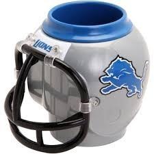 detroit lions - casco taza