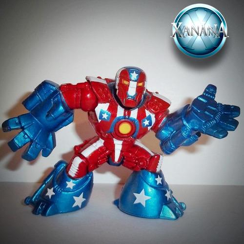 detroit steel- iron man - super hero squad - raro - jla dcu