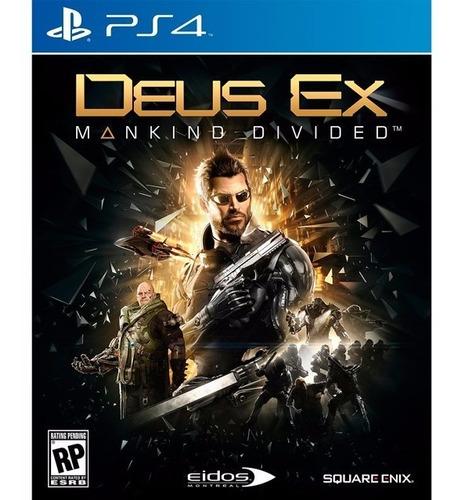 deus ex mankind divided ps4 playstation 4 juego físico ps4