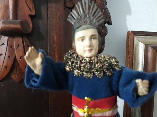 deus menino antigo 13 cm