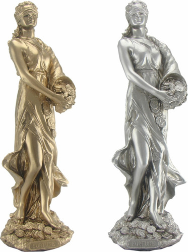 deusa da fortuna dourada - estatueta mitológica - escultura