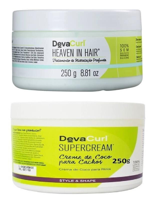 3c9d04538 Deva Curl Heaven In Hair 250g E Deva Curl Supercream 250g - R$ 146 ...