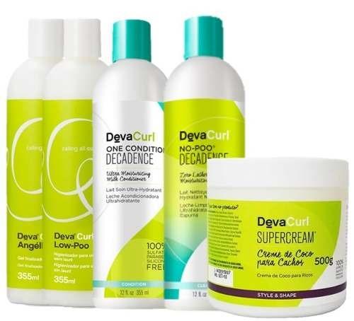 e1586d753 Deva Curl Kit Decadence Angell Low Poo Super Cream 500g... - R$ 375 ...