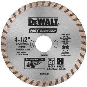 dewalt dw4725 de alto rendimiento de 4-1 / 2 pulgadas en sec