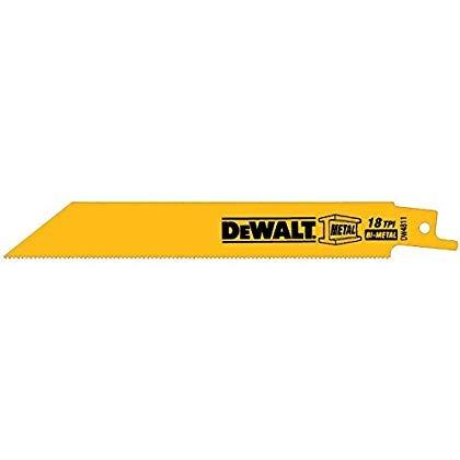 dewalt dw4811 6-inch 18 tpi derecho espalda bi - hoja de sie