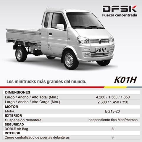 dfsk k01h 1.3 pickup 0km 2018