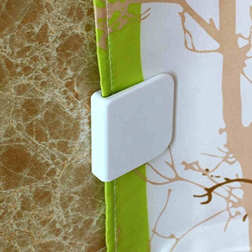 Dgq Shower Curtain Splash Guard Clip Windproof Self Adhes
