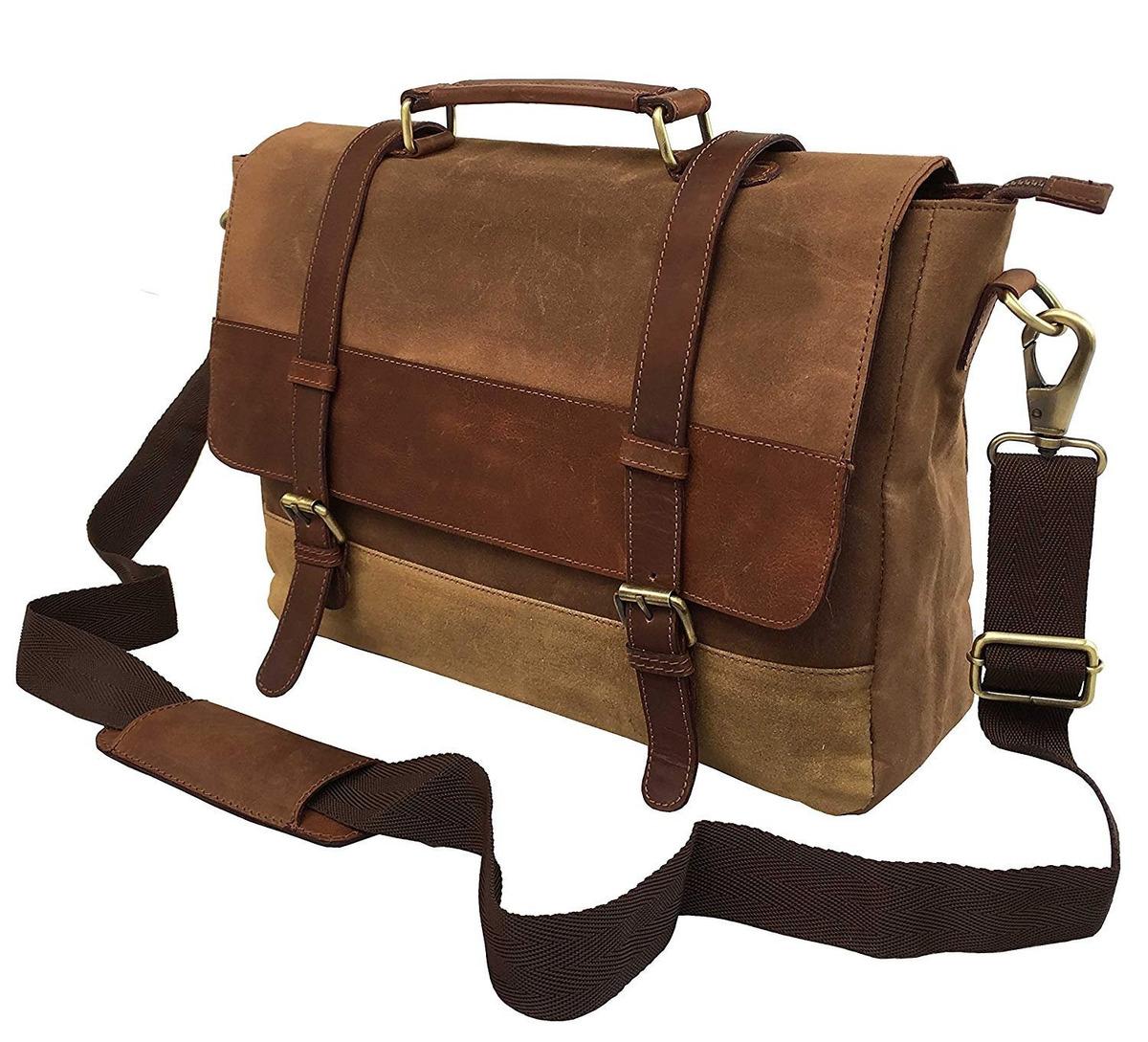 883c27e0 dhk - bolso bandolera de piel para hombre, diseño vintage. Cargando zoom.
