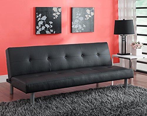Dhp Nola Copetudo Futón, Negro - $ 772.699 en Mercado Libre