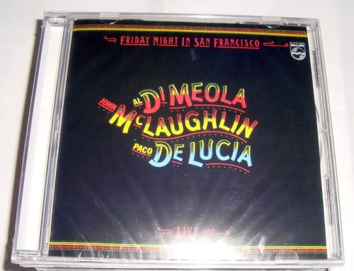 di meola mclaughlin de lucia friday night in sf cd / kktus