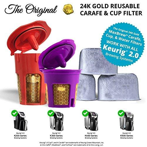 di oro - maxbrew 24k gold accesorios keurig (1) k-cup solo r