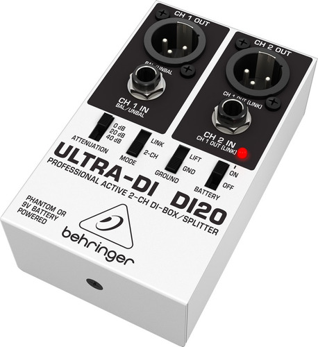 di20 direct box ativo behringer ultra di-20 / di 20
