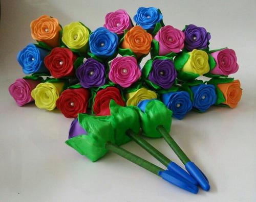 dia das mães compre kit com 10 lindas canetas em eva (n03)