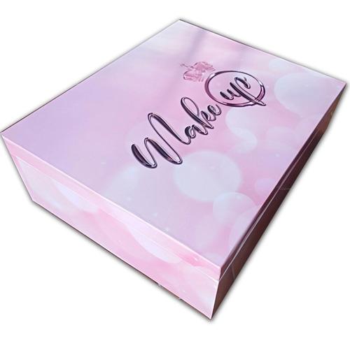 día de la madre cofre de maquillaje pink con espejo premium
