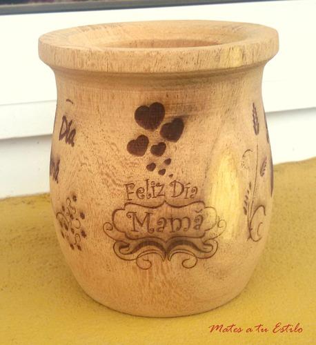 dia de la madre regalo mate madera grabado