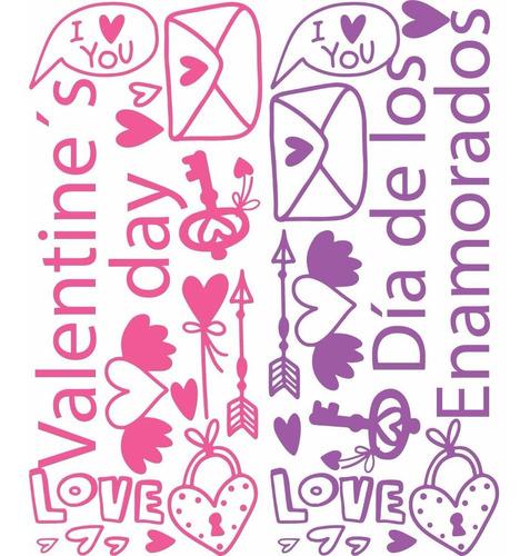 día de los enamorados calcos vinilos stickers vidrieras