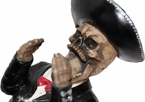 día de los muertos decorativos mariachi esqueleto vino ti