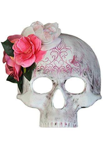 día de los muertos media cráneo de la máscara de las mujere
