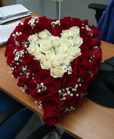 Dia De Madre Regalos Con Flores Modelo Corazón La Florería