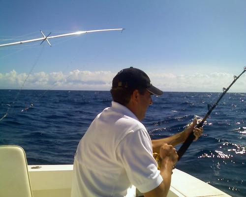día de pesca de altura deportiva en el placer de la guaira
