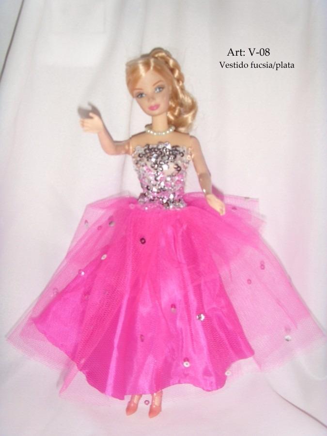 Día Del Niño Vestidos Straples Lentejuelas P/muñecas Barbie - $ 130 ...