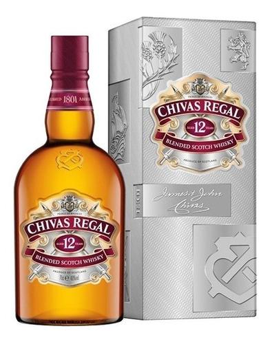 dia del padre whisky chivas regal 12 años c/estuche e.gratis