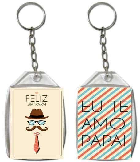 Dia Dos Pais Chaveiro Acrilico Personalizado 3x4 - 100 Unid - R  95 ... c74edebc40