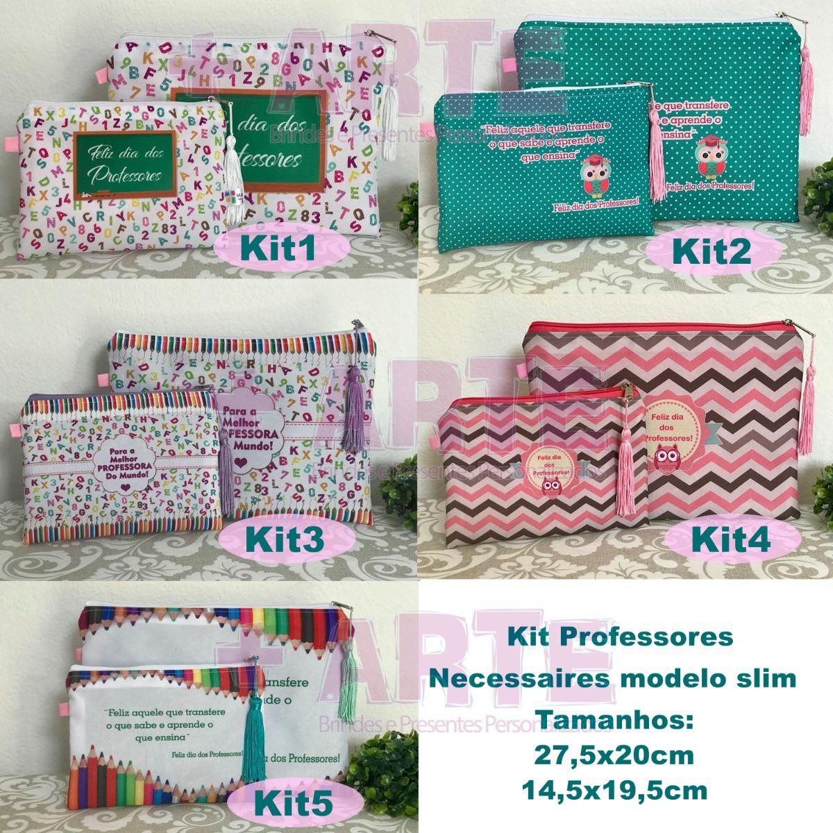 Dia Dos Professores Necessaires Kit C 25 R 785 99 Em Mercado Livre