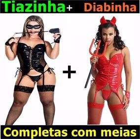 5c31bff38 Espartilho Completo Fantasia Barato Tiazinha no Mercado Livre Brasil