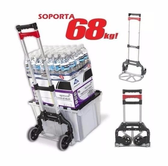 diablito carrito de carga magna cart aluminio plegable 68 kg