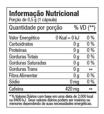 diabo verde ftw termogênico 420mg cafeina - 60 caps