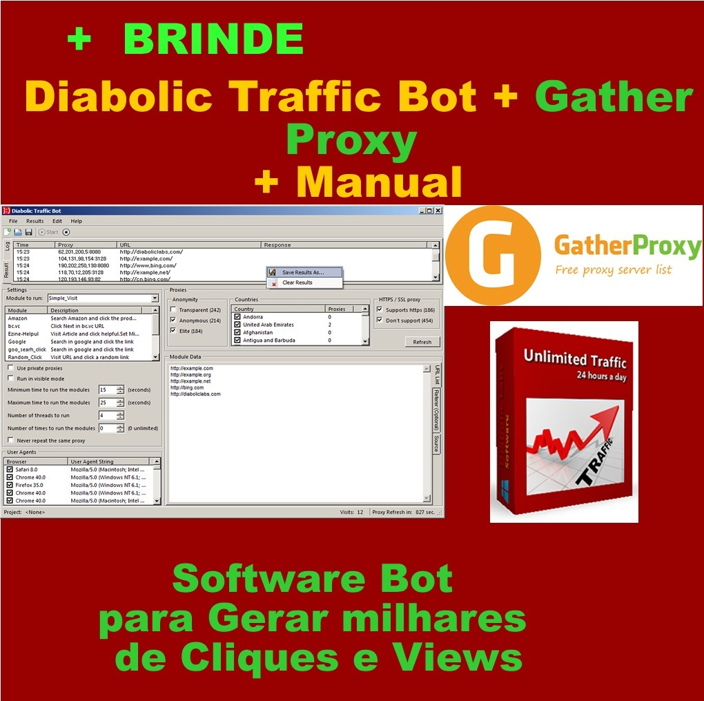 Diabolic Traffic Bot Novo 3 0- Para Videos
