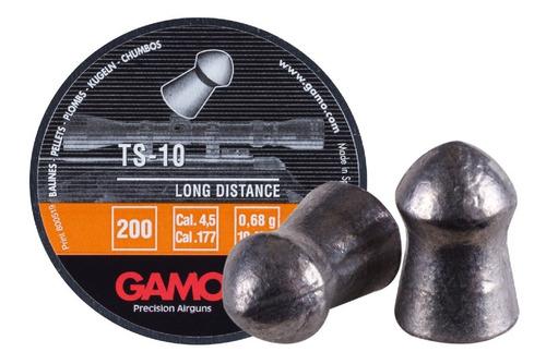 diabolos pellets gamo ts-10 cal 4.5 200 piezas