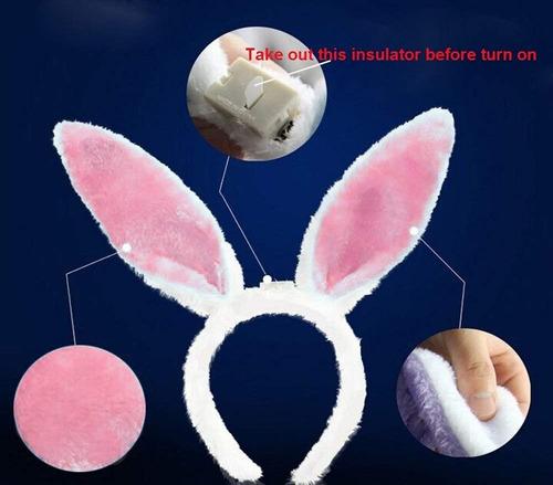 diadem glow oreja de conejo led gorros fiesta cumpleaños